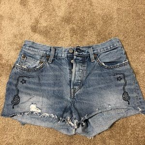Levi's high wasted 501 shorts
